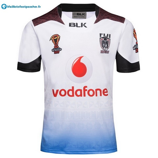 Champions Maillot Rugby Pas Cher Fidji RLWC 2017 2018 Blanc