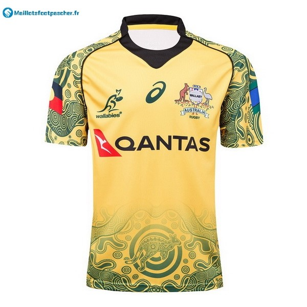 Maillot Rugby Pas Cher Australie 2017 2018 Jaune