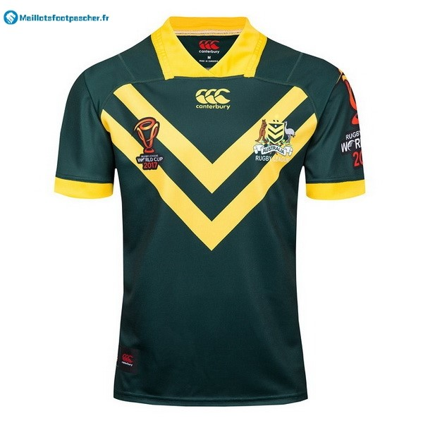 Maillot Rugby Pas Cher Australie RLWC Domicile 2017 2018 Vert