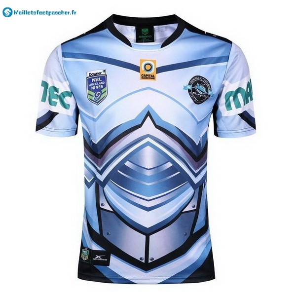 Maillot Rugby Pas Cher Cronulla Sharks Auckland 9's 2017 2018 Bleu