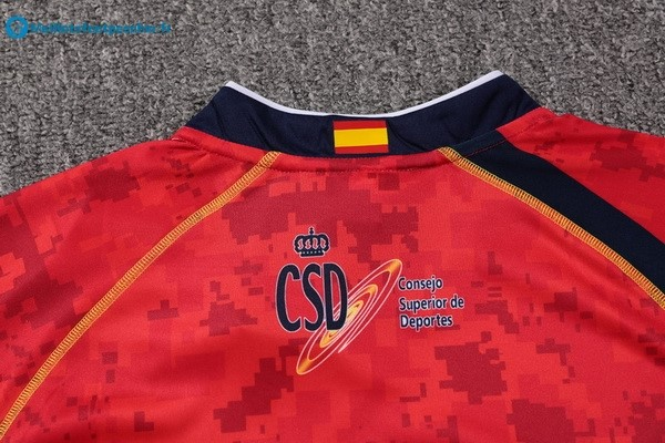 Maillot Rugby Pas Cher Espagne Domicile 2017 2018 Rouge