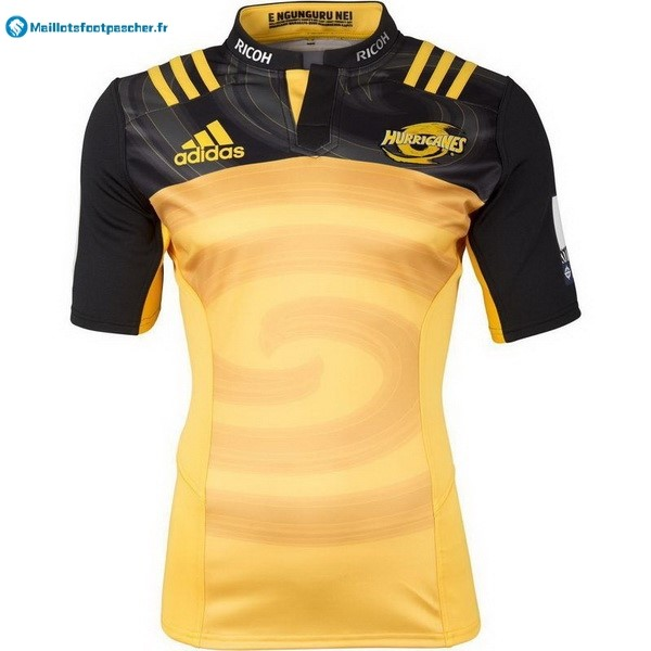 Maillot Rugby Pas Cher Hurricanes Domicile 2017 2018 Jaune