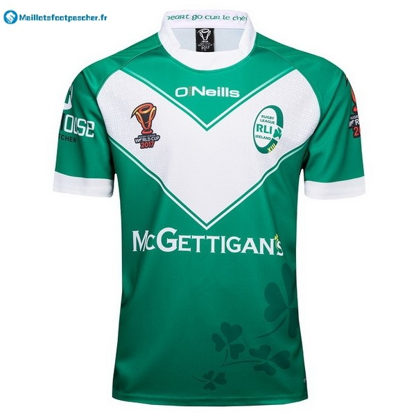 Maillot Rugby Pas Cher Irlande RLWC O'Neills Domicile 2017 2018 Vert