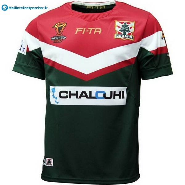 Maillot Rugby Pas Cher Líbano RLWC Domicile 2017 2018 Vert