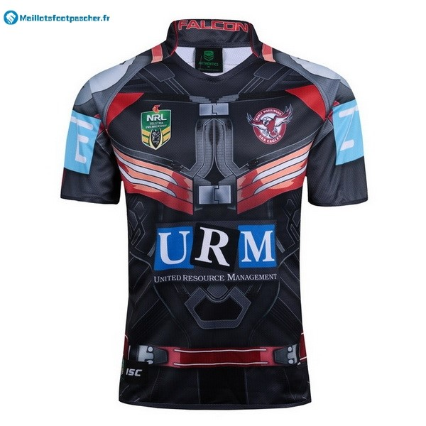Maillot Rugby Pas Cher Manly Sea Eagles 2017 2018 Noir