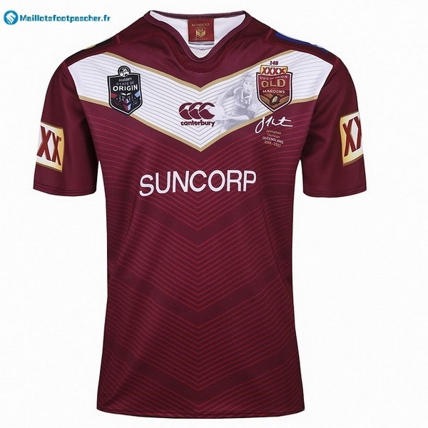 Maillot Rugby Pas Cher QLD Maroons 2017 2018 Rouge