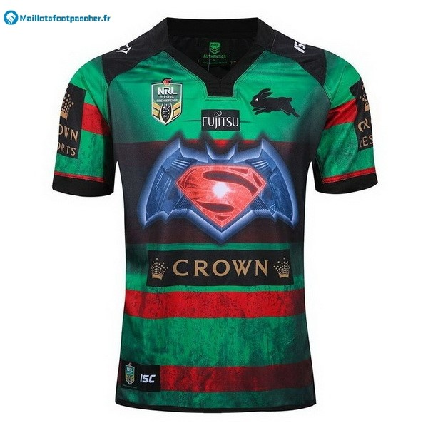 Maillot Rugby Pas Cher Rabbitohs Domicile 2016 Vert