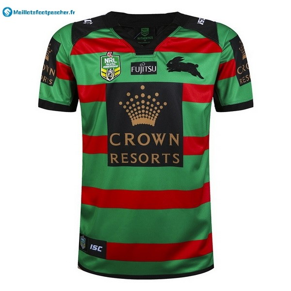 Maillot Rugby Pas Cher Rabbitohs Domicile 2017 2018 Vert