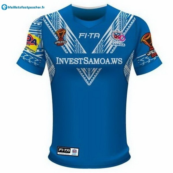 Maillot Rugby Pas Cher Samoa RLWC Domicile 2017 2018 Bleu