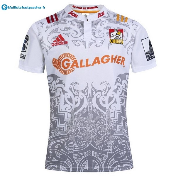 Maillot Rugby Pas Cher Chiefs Exterieur 2017 2018 Blanc