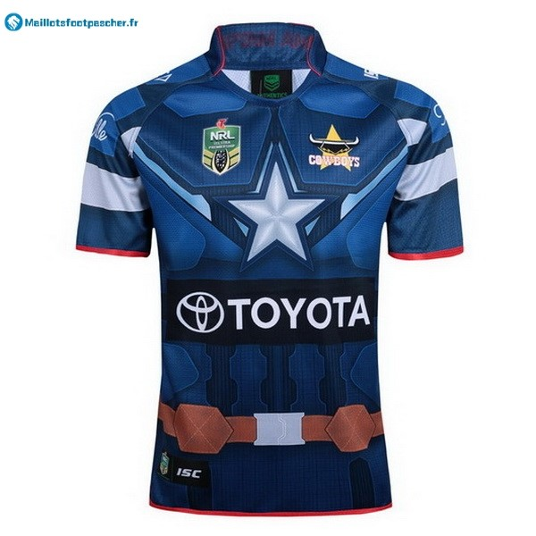 Maillot Rugby Pas Cher Cowboys Bleu 2017 2018