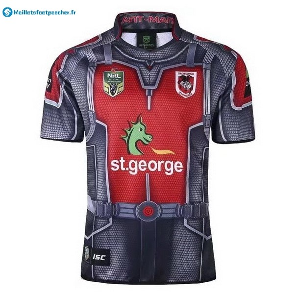 Maillot Rugby Pas Cher St.George Illawarra Dragons 2017 2018 Gris