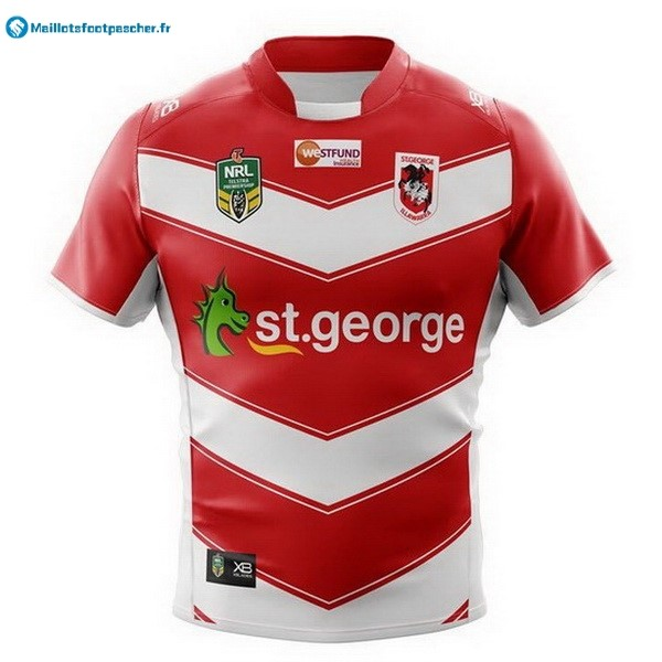 Maillot Rugby Pas Cher St.George Illawarra Dragons Exterieur 2018 Rouge