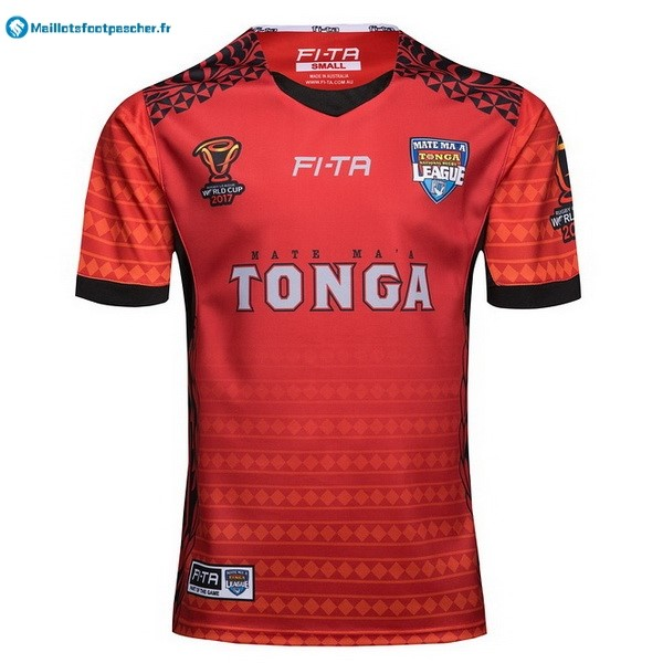 Maillot Rugby Pas Cher Tonga RLWC Domicile 2017 2018 Rouge