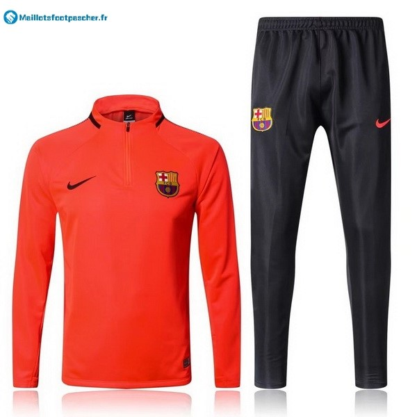 Survetement Foot Pas Cher Barcelona 2017 2018 Orange Marine