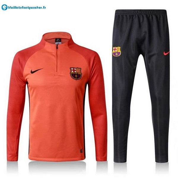Survetement Foot Pas Cher Barcelona 2017 2018 Orange Noir