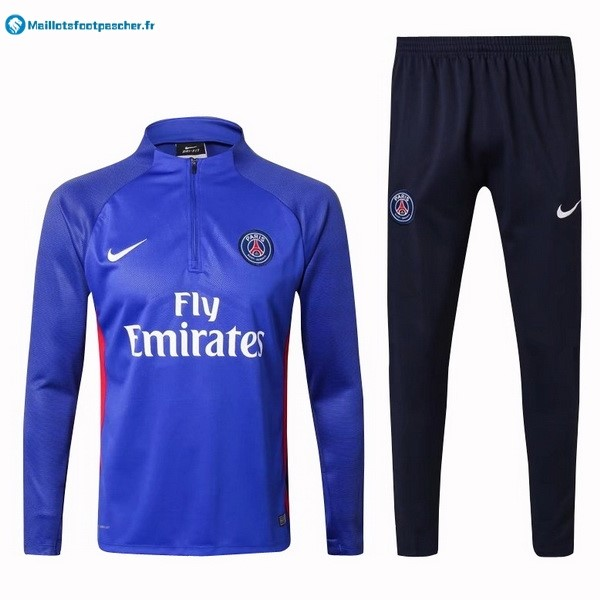 Survetement Foot Pas Cher Paris Saint Germain 2017 2018 Bleu Rouge Blanc