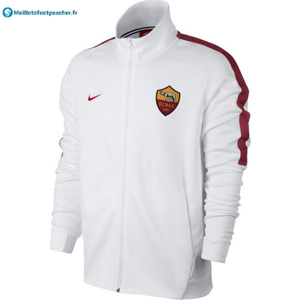 Veste Foot Pas Cher AS Roma 2017 2018 Blanc
