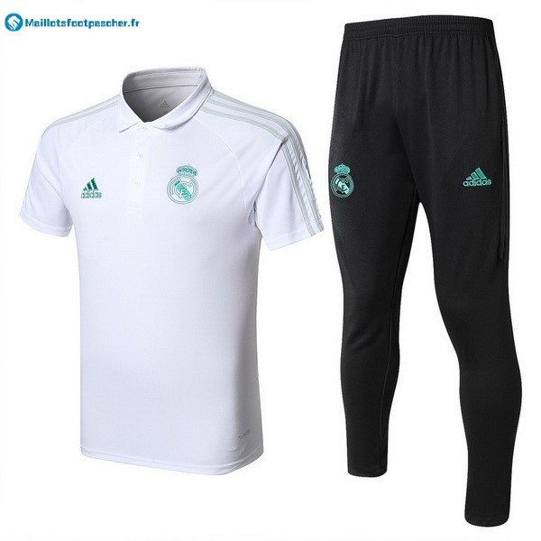 Polo Foot Pas Cher Real Madrid Ensemble Complet 2017 2018 Blanc