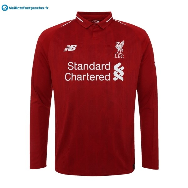 Maillot Foot Pas Cher Liverpool Domicile ML 2018 2019 Rouge