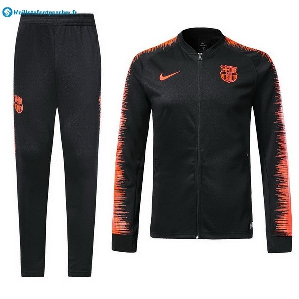 Survetement Foot Pas Cher Barcelona 2018 2019 Noir Orange