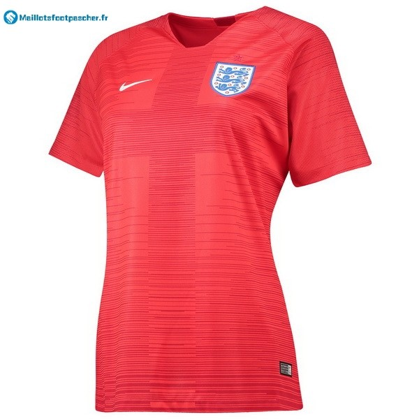 Maillot Foot Pas Cher Angleterre Exterieur Femme 2018 Rouge