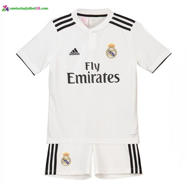 Maillot Foot Pas Cher Real Madrid Domicile Enfant 2018 2019 Blanc