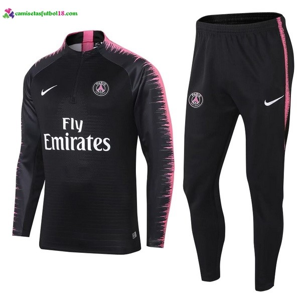 Survetement Foot Pas Cher Paris Saint Germain 2018 2019 Noir Rose