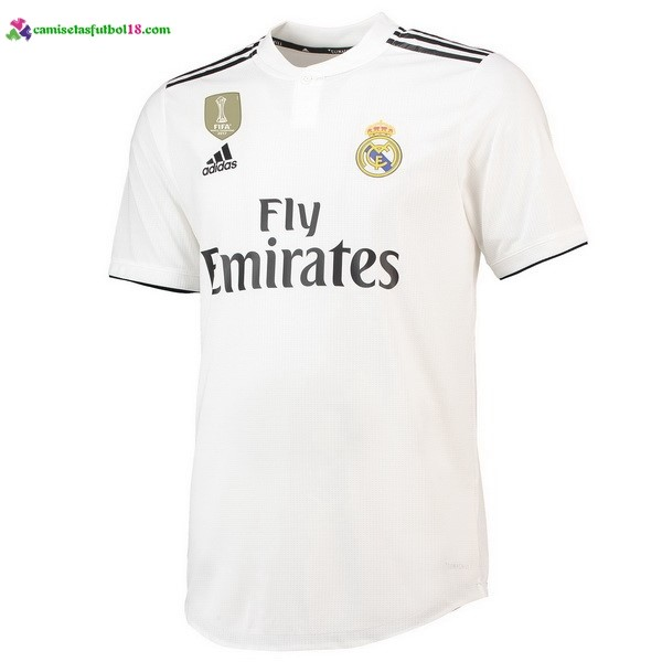 Thailande Maillot Foot Pas Cher Real Madrid Domicile 2018 2019 Blanc