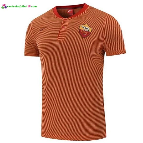 Polo Foot Pas Cher AS Roma 2017 2018 Orange Marine