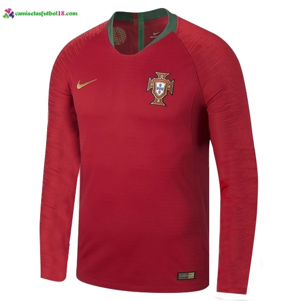 Maillot Foot Pas Cher Portugal Domicile ML 2018 Rouge