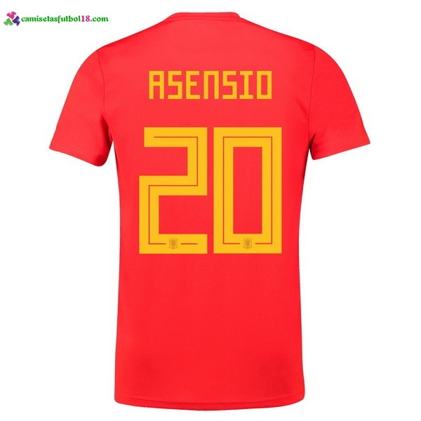 Maillot Foot Pas Cher Espagne Domicile Asensio 2018 Rouge