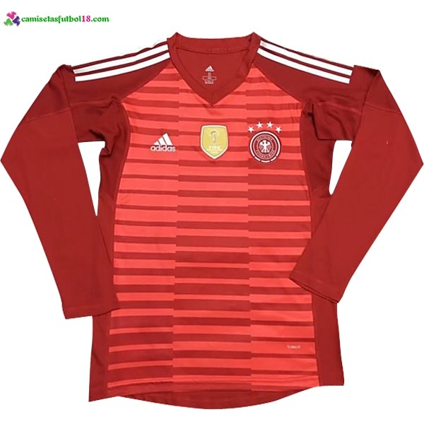 Maillot Foot Pas Cher Allemagne ML Gardien 2018 Rouge