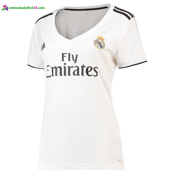 Maillot Foot Pas Cher Real Madrid Domicile Femme 2018 2019 Blanc