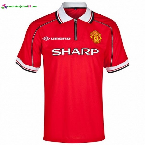 Maillot Foot Pas Cher Manchester United Domicile Retro 1998 1999 Rouge