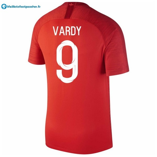 Maillot Foot Pas Cher Angleterre Exterieur Vardy 2018 Rouge