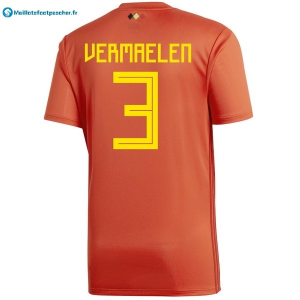 Maillot Foot Pas Cher Belgica Domicile Vermaelen 2018 Rouge