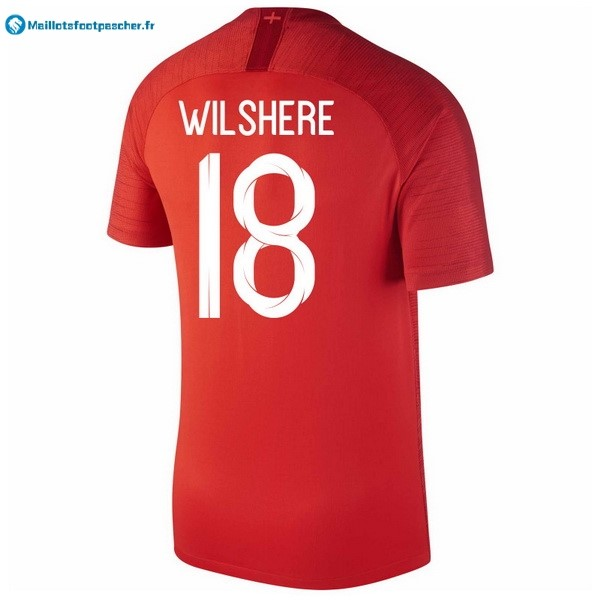 Maillot Foot Pas Cher Angleterre Exterieur Wilshere 2018 Rouge
