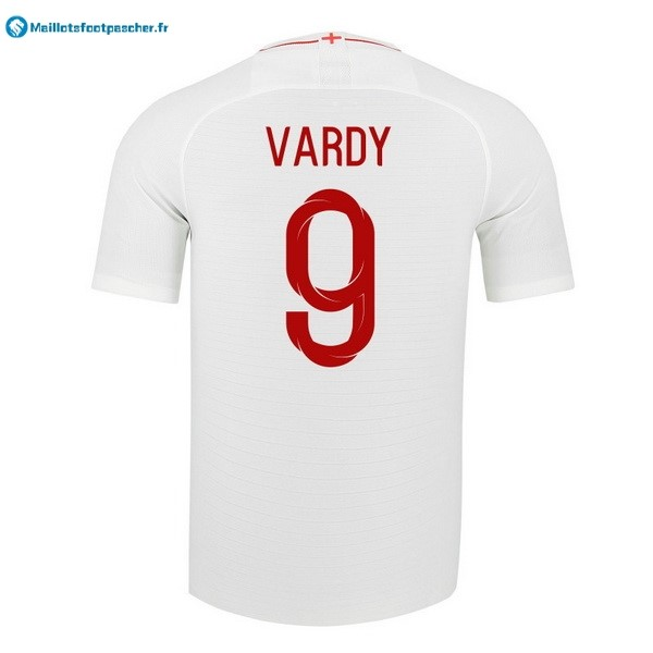 Maillot Foot Pas Cher Angleterre Domicile Vardy 2018 Blanc