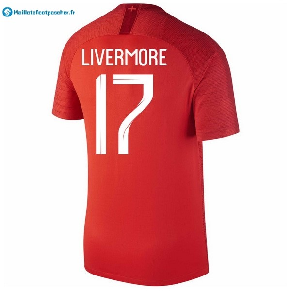 Maillot Foot Pas Cher Angleterre Exterieur Livermore 2018 Rouge