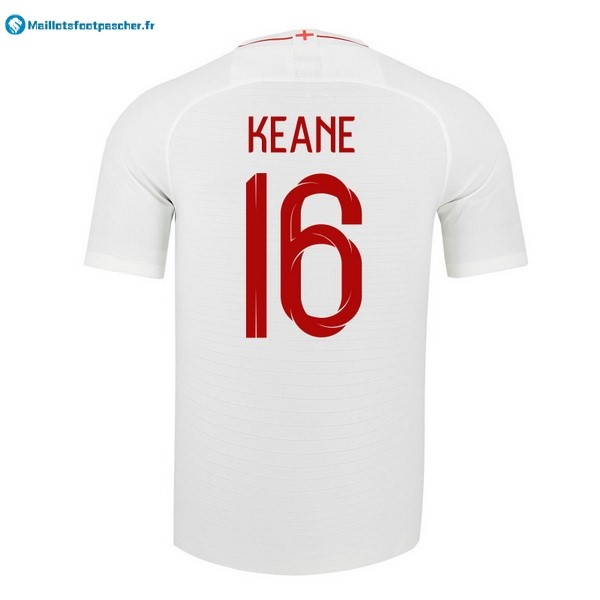 Maillot Foot Pas Cher Angleterre Domicile Keane 2018 Blanc