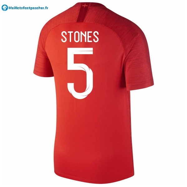 Maillot Foot Pas Cher Angleterre Exterieur Stones 2018 Rouge