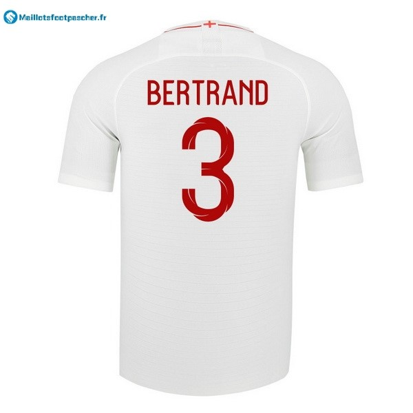 Maillot Foot Pas Cher Angleterre Domicile Bertrand 2018 Blanc