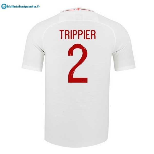 Maillot Foot Pas Cher Angleterre Domicile Trippier 2018 Blanc
