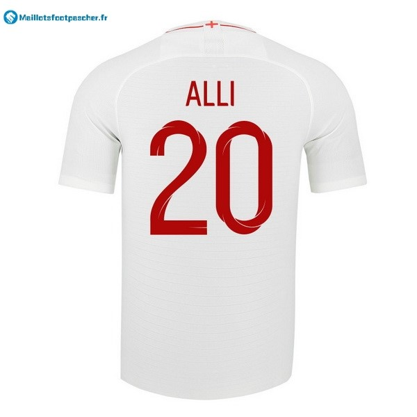 Maillot Foot Pas Cher Angleterre Domicile Alli 2018 Blanc