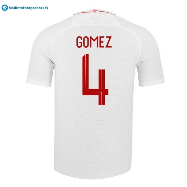 Maillot Foot Pas Cher Angleterre Domicile Gomez 2018 Blanc