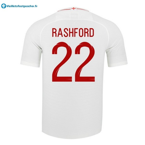 Maillot Foot Pas Cher Angleterre Domicile Rashford 2018 Blanc