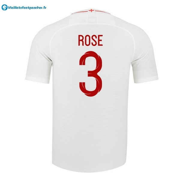 Maillot Foot Pas Cher Angleterre Domicile Rose 2018 Blanc