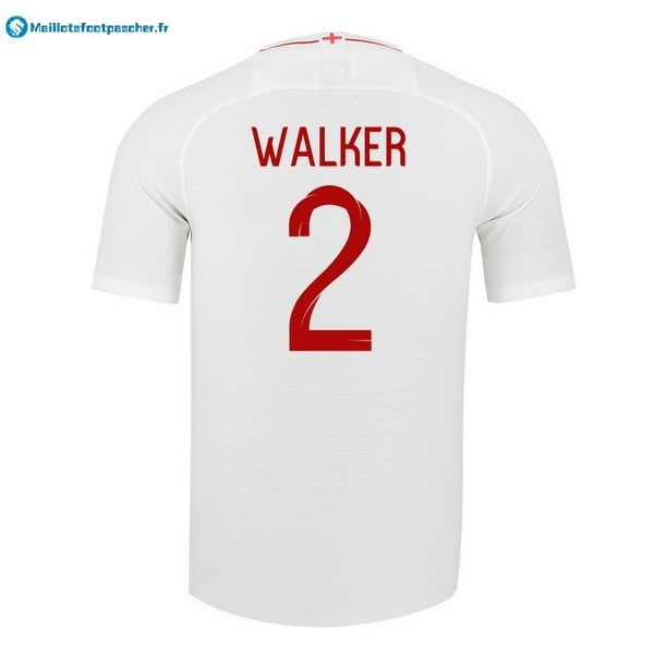 Maillot Foot Pas Cher Angleterre Domicile Walker 2018 Blanc