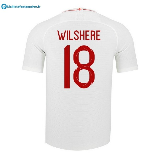 Maillot Foot Pas Cher Angleterre Domicile Wilshere 2018 Blanc